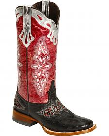 Lucchese Handcrafted 1883 Amberlyn Full Quill Ostrich Cowgirl Boots