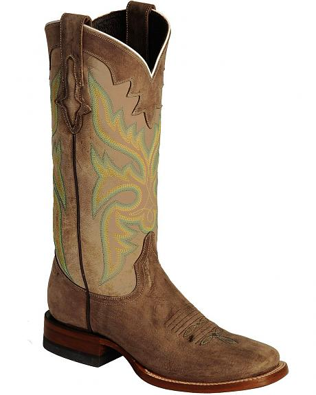 Lucchese Handcrafted 1883 Burnished Calf Skin Cowgirl Boots - Square Toe
