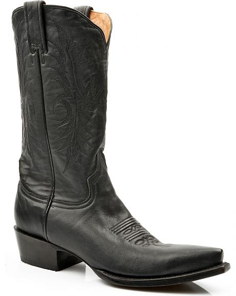 Stetson Hand Burnished Faccini Leather Cowgirl Boots - Snip Toe
