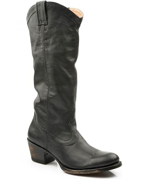Stetson Hand Burnished Faccini Riding Boots - Round Toe