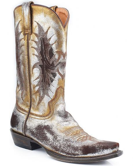 Stetson Acetone Metallic Cowgirl Boots - Snip Toe