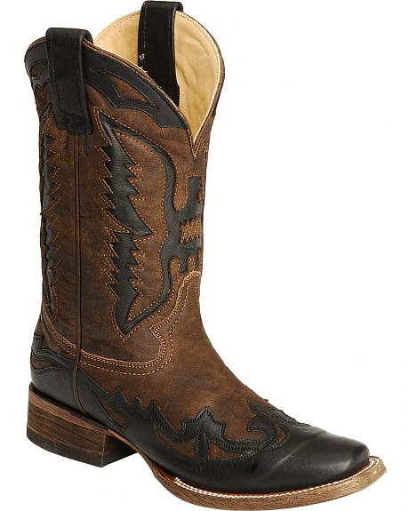 Corral Eagle Inlay Boots - Square Toe