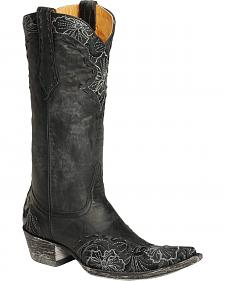 Old Gringo Erin Floral Embroidered & Laced Cowgirl Boots - Pointed Toe