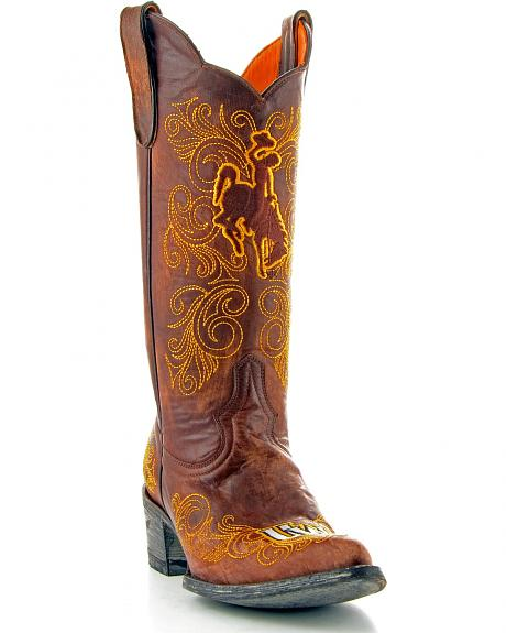 University of Wyoming Gameday Cowgirl Boots - Pointed Toe
