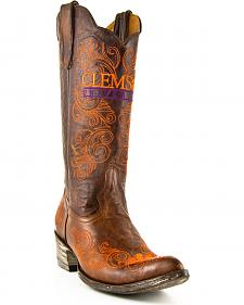 Clemson University Gameday Cowgirl Boots - Pointed Toe