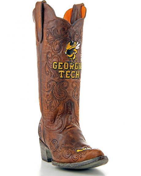 Georgia Institute of Technology Gameday Cowgirl Boots - Pointed Toe
