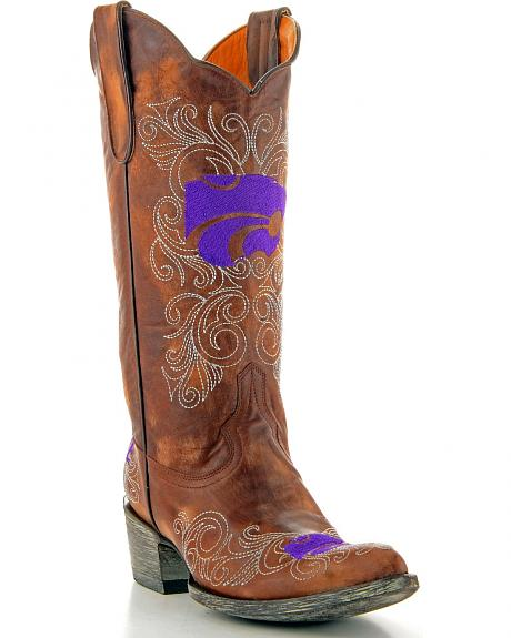 Kansas State University Gameday Cowgirl Boots - Pointed Toe