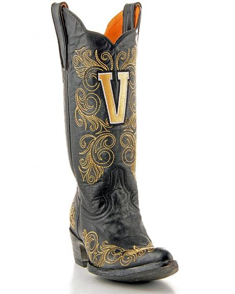 Vanderbilt University Gameday Cowgirl Boots - Pointed Toe