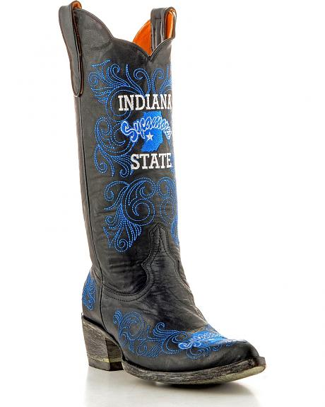 Indiana State University Gameday Cowgirl Boots - Pointed Toe