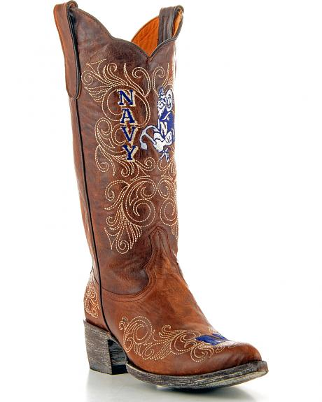 U.S. Naval Academy Gameday Cowgirl Boots - Pointed Toe