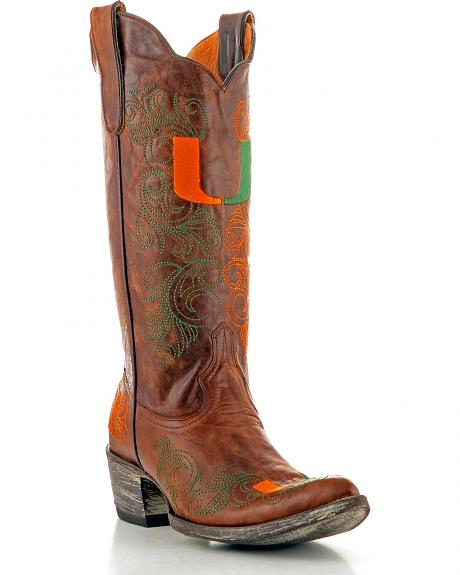 University of Miami Gameday Cowgirl Boots - Pointed Toe