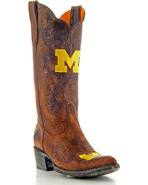 University of Michigan Gameday Cowgirl Boots - Pointed Toe