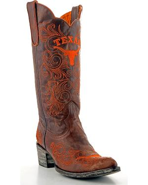 Gameday University of Texas Cowgirl Boots - Pointed Toe