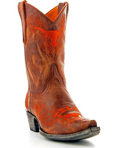 University of Texas Gameday Cowgirl Boots Snip Toe