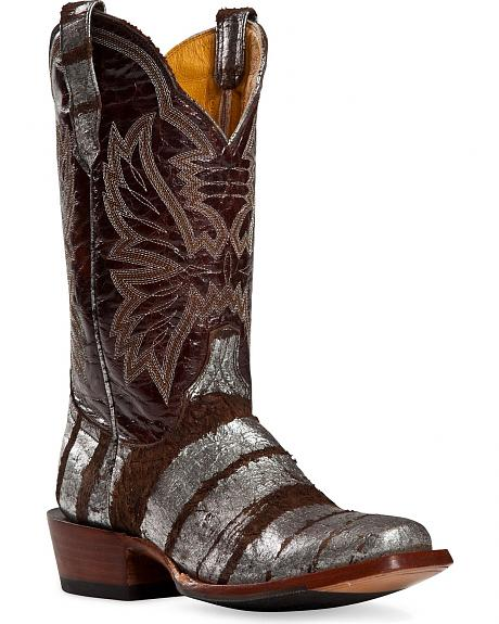 Cinch Classic Sterling Alloy Streaked Cowgirl Boots - Square Toe