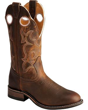 Boulet Tan Spice Rider Cowgirl Boots - Round Toe