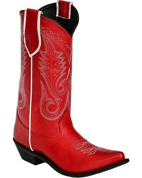 Smoky Mountain Magnolia Red Cowgirl Boots - Pointed Toe