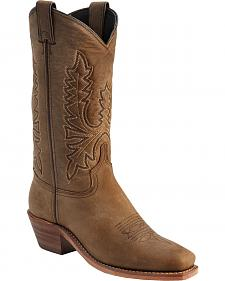 Abilene Oiled Cowhide Cowgirl Boots - Square Toe