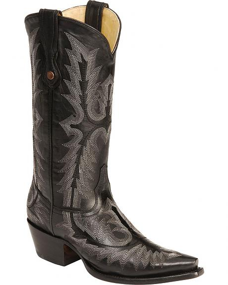 Corral Fancy Stitched Cowgirl Boots - Snip Toe