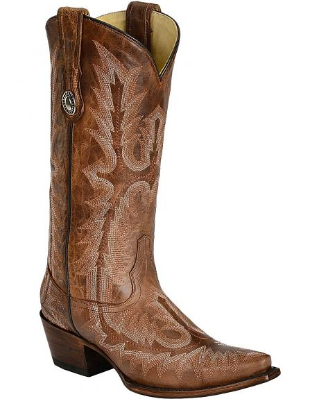 Corral Picasso Cognac Cowgirl Boots - Snip Toe