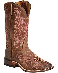 Tony Lama San Saba Navajo Cross Cowgirl Boots - Round Toe