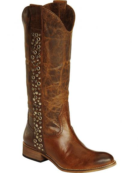 Spirit by Lucchese Avery Grommet Riding Boots - Round Toe