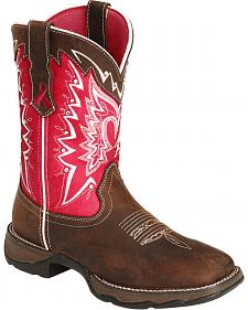 Durango Pink Ribbon Rebel Cowgirl Boots - Square Toe