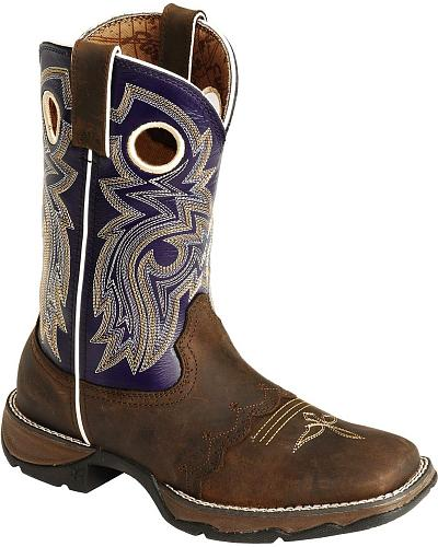 Durango Twilight N Lace Rebel Cowgirl Boots Square Toe Western & Country RD3576