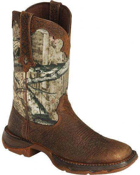 Durango Camouflage Cutie Rebel Cowgirl Boots - Square Toe