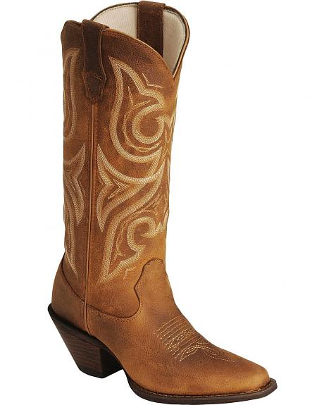 Durango Jealousy Crush Cowgirl Boots - Rounded Toe