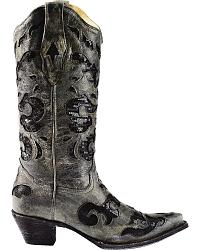 Corral Crater Inlay Cowgirl Boots - Snip Toe at Sheplers