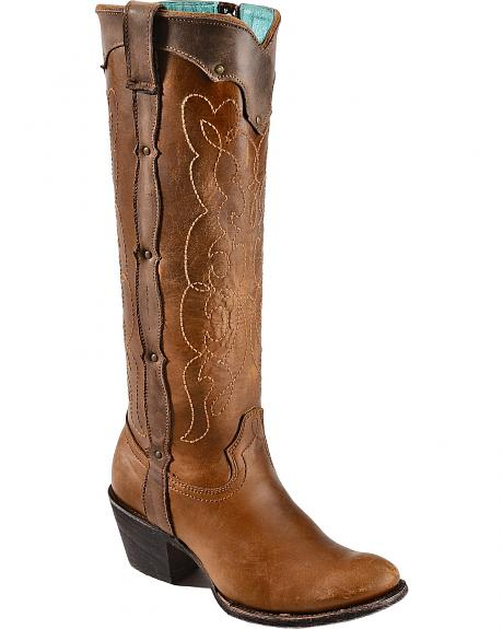 Corral Kats Natural Westport Cowgirl Boots - Round Toe