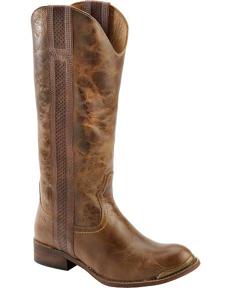 Spirit by Lucchese Madison Tobacco Madison Tall Riding Boots - Round Toe