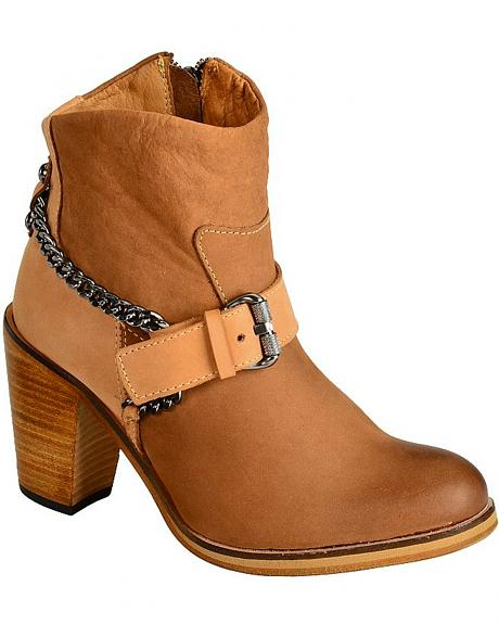 Spirit by Lucchese Rachel Harness Ankle Boots - Round Toe