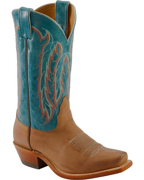 Nocona Turquoise Willow Cowgirl Boots - Snip Toe