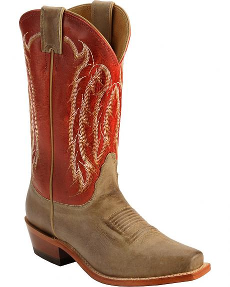 Nocona Legacy Cherry Willow Cowgirl Boots - Square Toe
