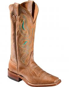 Nocona Honey Cowhide Cowgirl Boots - Square Toe