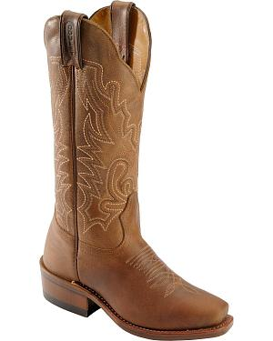 Boulet Lady Rancher Cowgirl Boots - Narrow Square Toe