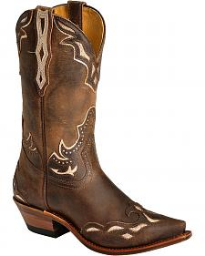 Boulet Iridescent Inlay Cowgirl Boots - Snip Toe
