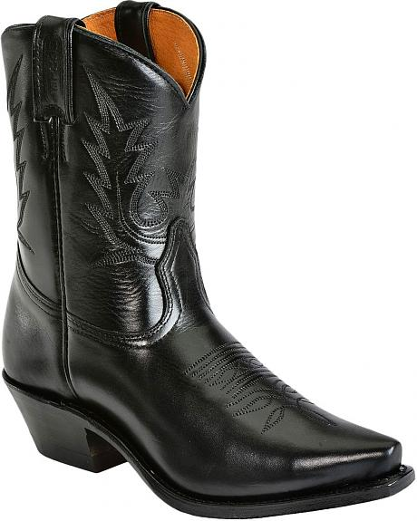 Boulet Calfskin Cowgirl Boots - Snip Toe