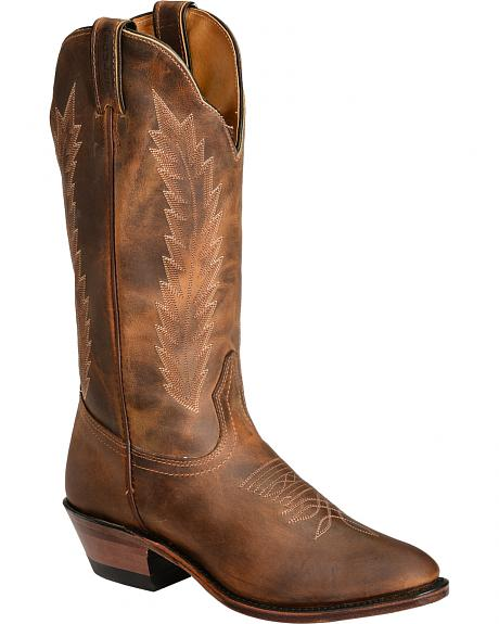 Boulet Fancy Stitched Cowgirl Boots - Round Toe