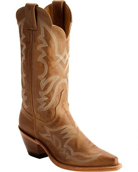 Justin Bent Rail American Cowgirl Boots - Snip Toe