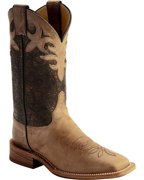 Justin Bent Rail Metallic Cowgirl Boots - Square Toe