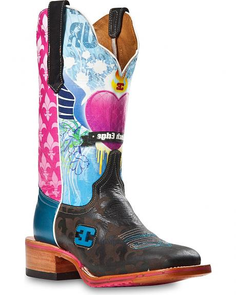 Cinch Edge Sacred Heart Cowgirl Boots - Square Toe