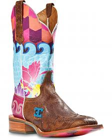Cinch Edge Waves Cowgirl Boots - Square Toe