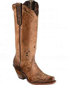 Tony Lama Black Label Tall Cowgirl Boots - Snip Toe
