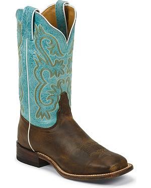 Tony Lama Americana Lavender Cowgirl Boots - Square Toe