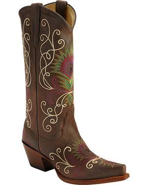 Tony Lama Vaquero Vail Cowgirl Boots - Snip Toe
