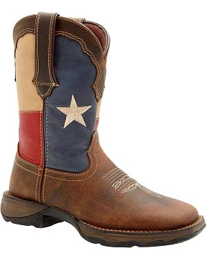 Durango Lady Rebel Texas Flag Cowgirl Boots - Square Toe