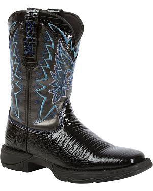 Durango Lady Rebel Snake Print Cowgirl Boots - Square Toe
